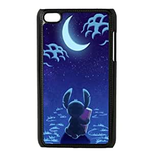 iPod Touch 4 Case Black Disney Stitch Moitm