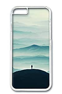 Custom Design Covers for iPhone 6 PC Transparent Case - Stand On A Hill