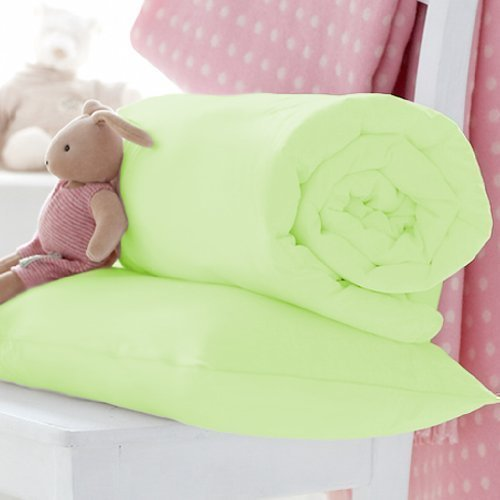 Ready Steady Bed Childrens Pure 100/% Cotton V Shaped Pastel Green Pillowcase
