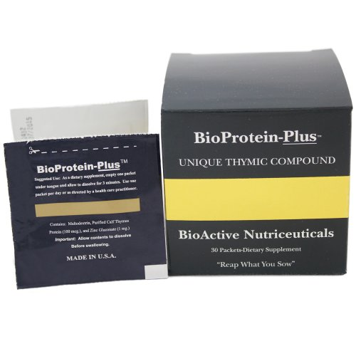 Gland Thymus Immunity - BioProtein Plus Immune System Booster - Made with Purified Thymus Proteins and Zinc Gluconate to Naturally Enhance Immune System Health, 30 Packets per Box, Powder Form