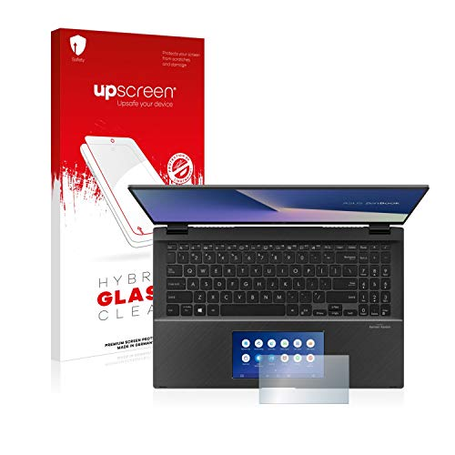 upscreen Hybrid Glass Clear Glass Screen Protector for Asus ZenBook Flip 15 UX563FD (only Screenpad) (flexible glass protector, high scratch protection 9H)