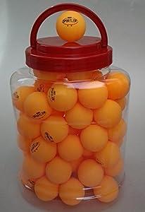60 TT-Bälle ** Tischtennisbälle im Eimer Tischtennisball orange