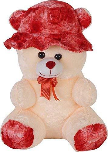 AVSHUB Spongy Soft Cute Cap Teddy Bear  Cream Color    55 cm  Cream