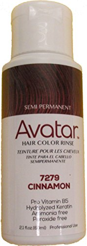 [Avatar Semi Permanent Hair Color Rinse #7279 Cinnamon, Change your hair style, no mess, hair chemical, use warm, shake well, hair streaks, hair] (Avatar Makeup)