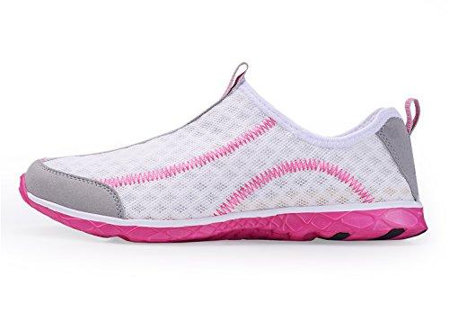Leichte leichte athletische schnell trocknende Netz-Aqua-Beleg-Aufwasser-Schuhe der A-PIE-Frauen Weiß-1