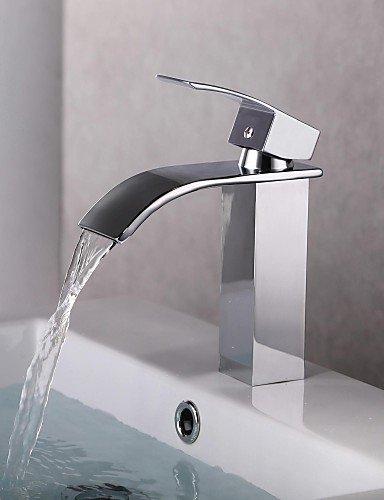 Zeitgenössische Chrome Ein Loch Einhand-WasserfaÖl Waschbecken Wasserhahn