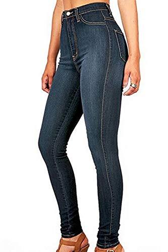 Slim Vita Alte Boot Jeans Deepblue Le Pantaloni Jean Skinny Fit Donne Cut qT4xZX