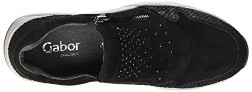 Gabor Women's Comfort Basic Derby Black (Schwstrass/S.hell) outlet pictures 49g7n