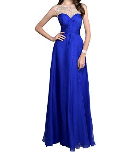 Partykleider Pailletten Chiffon Damen Royal A Langes Linie Royal Blau Blau Charmant Abendkleider Brautjungfernkleider Rock Fx8nqSF
