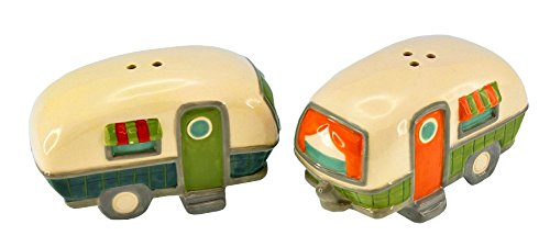 Beachcombers SS-BCS-03178 Campers Salt And Pepper Shaker Set, 3.25'' x 2'' x 2'' by Beachcombers