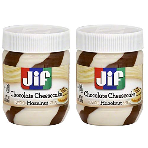 Jif Chocolate Cheesecake Flavored Hazelnut Spread 13 Oz Pack Of 2! Chocolate Hazelnut Spread And Cheesecake Spread Combine! Many Ways To Enjoy Your Snack With This Delicious Yummy Spread! ()