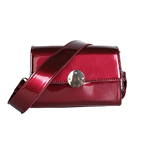 Shoulder Bag Bag Red Color Black Paint Shoulder Leather Woman Zhrui Woman Woman Bag XH4q45