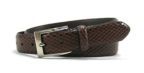 Leather Island 32mm Two Tone Cognac Leather (Bill Lavin Belts)