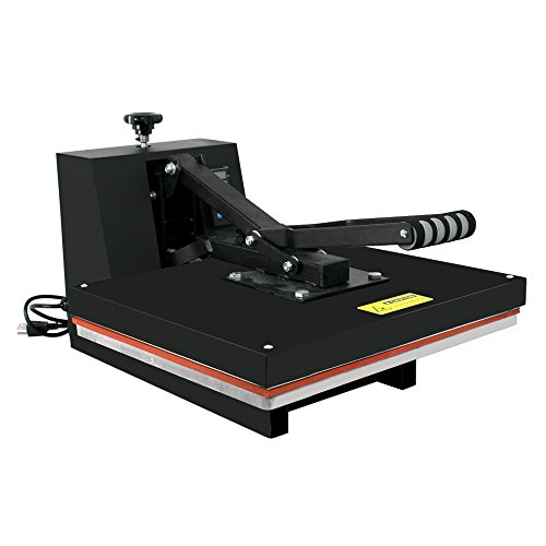 Super Deal Heat Press Digital Transfer Sublimation Machine for T-shirt Hat Mug Cap Plate Black, 15 X 15-Inches