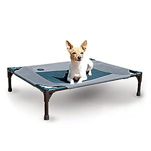 """K&H Pet Products Original Pet Cot Elevated Pet Bed Medium Gray/Mesh 25"""" x 32"""" x 7"""""""