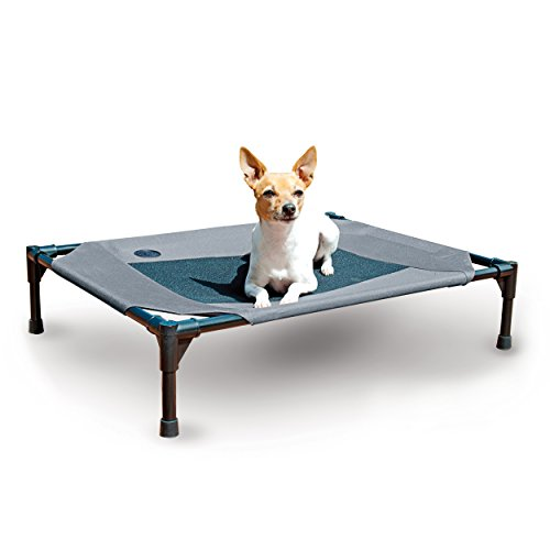 K&H Pet Products Original Pet Cot Elevated Pet Bed Medium Gray/Mesh 25