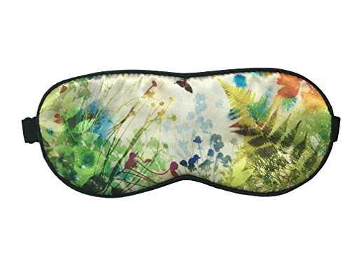 Amint Super Smooth Colorfast Silk Sleep Mask Eye Mask for Sleeping with Soundproof Ear Plugs Green,7.9
