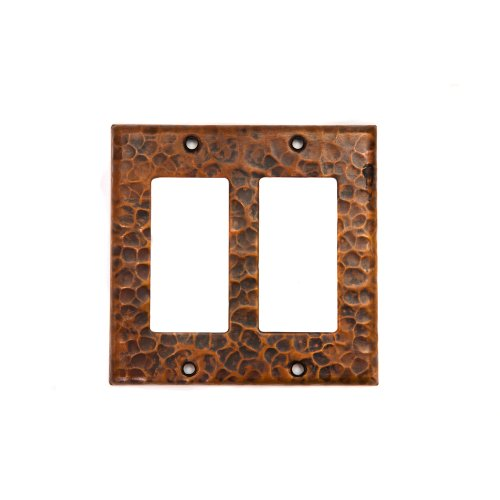 Premier Copper Products SR2 Copper Double Ground Fault/Rocker GFI Switch Plate Cover, Oil Rubbed Bronze by Premier Copper Products
