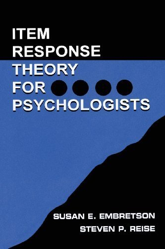Read Online Item Response Theory for Psychologists (Multivariate Applications Series) 1st (first) by Embretson, Susan E., Reise, Steven P. (2000) Paperback pdf epub