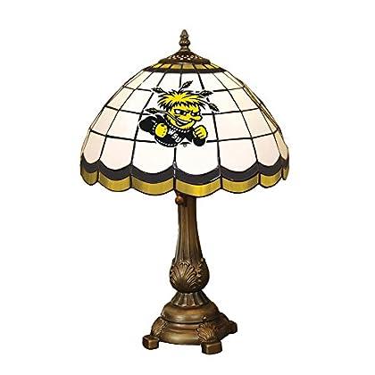 Image of Desk Lamps Memory Company NCAA Wichita State University Tiffany Table Lamp Wichita, One Size, Multicolor