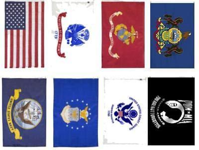 - K's Novelties Wholesale Lot 2x3 USA + 5 Branches Military + Pow Mia + Pennsylvania Flag Set