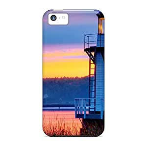 Pretty ReP11585PjlS Iphone 5c Case Cover/ Doubling Point Lighthouse Maine Series High Quality Case