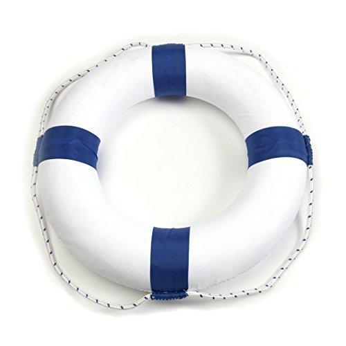 50cm (19.7in) Diameter Swim Foam Ring Buoy Swimming Pool Safety Life Preserver W/Nylon Cover Kid Child Adult