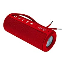 Hanker Pitch 3.0, Bocina Bluetooth Resistente al Agua, Color Rojo Bermellón