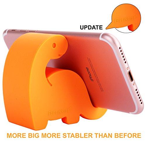 (Plinrise Animal Desk Phone Stand, Update Dinosaur Stripe Silicone Office Phone Holder, Creative Phone Tablet Stand Mounts, Size:1.3