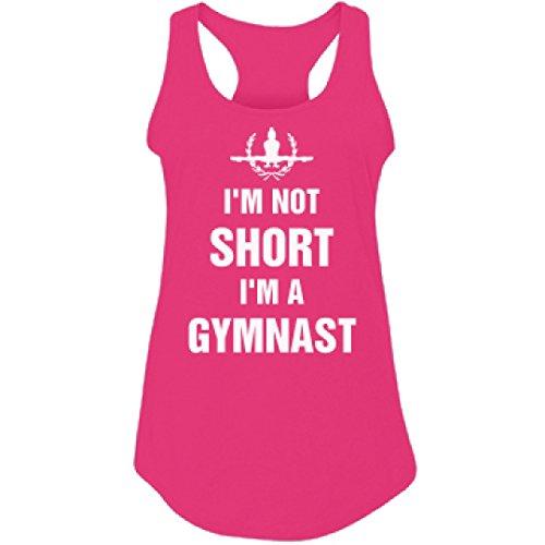 I'm Not Short Just A Gymnast Humor:Junior Fit Racerback Tank