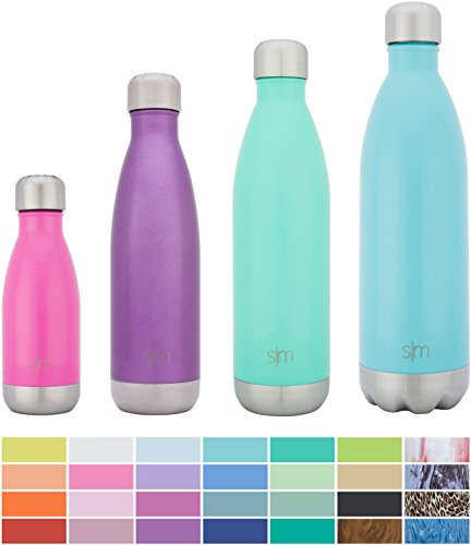 Simple Modern Stainless Steel Vacuum Insulated Double-Walled Wave Bottle, 25oz - Amethyst Purple - Shimmering Collection