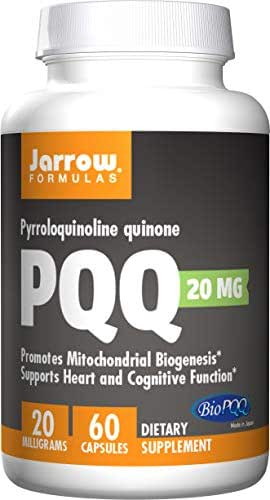 Jarrow Formulas PQQ , Supports Heart and Cognitive Function, 20 Mg, 60 Caps