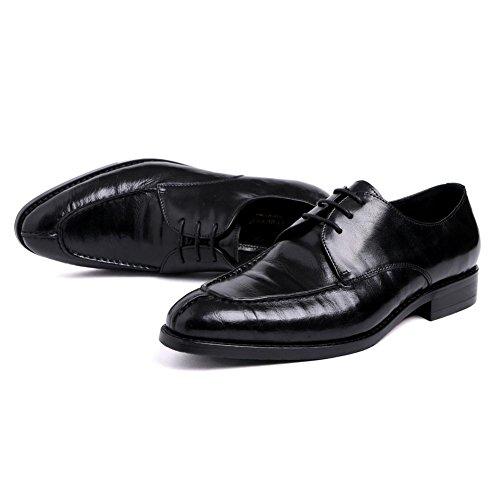 Hombres Boda Zapatos Vestir Encajes Puntiagudo Dedo del pie Negro Formal Negocio Casual Cómodo Cuero Oxford para Hombres marrón Trabajo tamaño 38-44 black