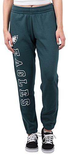 NFL Women's Philadelphia Eagles Jogger Pants Relax Fit Fleece Sweatpants, Large, Green -