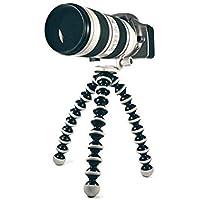Knmaster Tüm Aksiyon Kameralara Uyumlu Büyük Boy Ahtapod Tripod Unisex, Siyah Beyaz, L