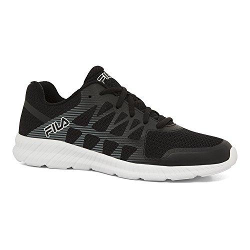 Fila Men's Memory Finity Sneakers, Black Mesh, Synthetic, 9.5 M