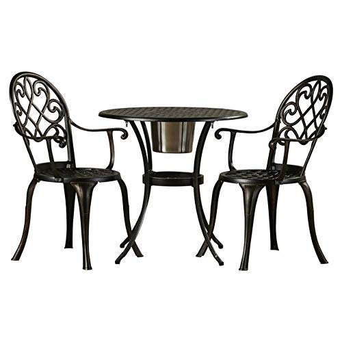 Alcott Hill 3 Piece Weather Resistant Cast Aluminum Bistro Set + Free Basic Design Concepts Expert Guide from Alcott Hill