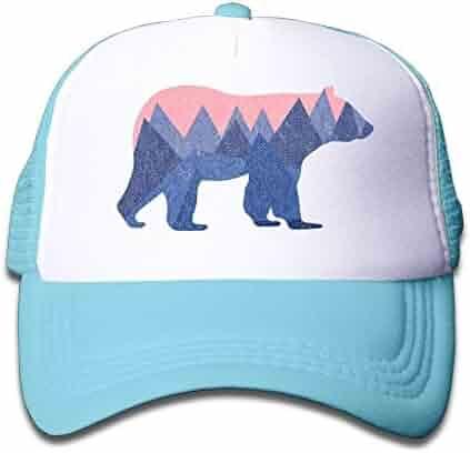a1a9ed3cacd05 Eveler Boys and Girls Bear Mountain Youth Toddler Mesh Hats Baseball  Trucker Cap