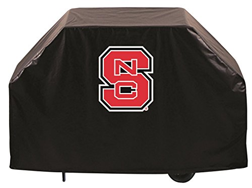 NC State Wolfpack HBS Black Outdoor Heavy Breathable Vinyl BBQ Grill Cover (72