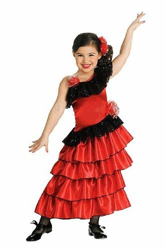 Senorita Child Costume - Small 4-6X (Flamenco Dance Costumes For Girls)