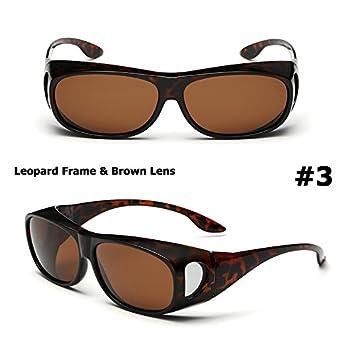 Aprigy - Gafas de Sol polarizadas para Hombre, Lentes de conducción, Pesca, para Gafas de Sol Myopia Polaroid, Leopardo: Amazon.es: Deportes y aire libre