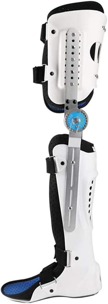 Soporte de rodilla ajustable, ortesis inmovilizadora de rodilla, rodillera con bisagras ROM, inmovilizador de rodilla, rodillera ortopédica, rótula, ajustable para pierna izquierda y pierna derecha