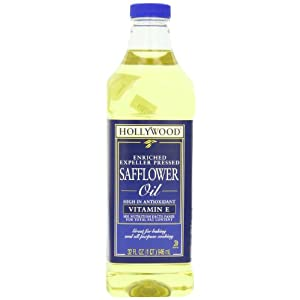 Hollywood Safflower Oil, 32 Ounce Bottle 17 Pure safflower oil expeller pressed without chemicals Enriched with antioxidant vitamin E Low saturated fat, cholesterol and sodium