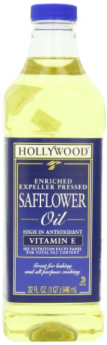- Hollywood Safflower Oil, 32 Ounce Bottle