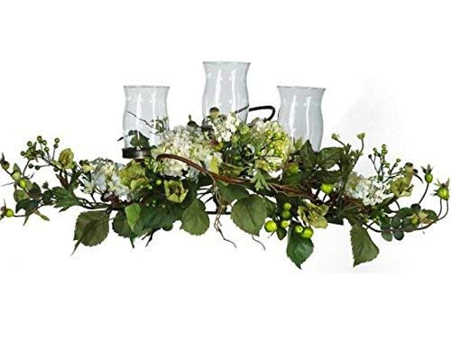 SKB Family Hydrangea Triple Candleabrum Centerpiece Incredibly Centerpiece candleholders