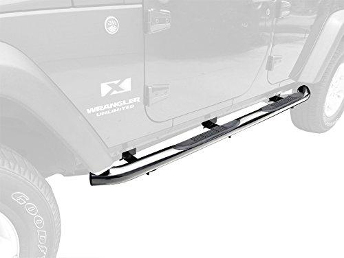 """TYGER Custom Fit 2007-2015 Jeep Wrangler JK 4 Door 3"""" Side Armor Step Nerf Bars Stainless Steel Running Boards"""