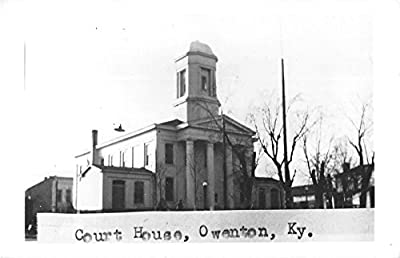 Owenton Kentucky Court House General View Real Photo Postcard V9945
