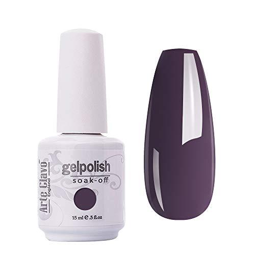 Amazon Com Arte Clavo Gel Polish Soak Off Uv Led Lamp Lacquer Nail Art Varnish Professional 15ml Purple Blue Health Personal Care