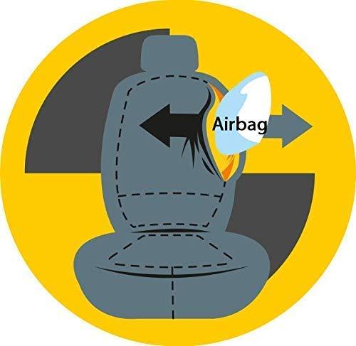 compatibili con sedili con airbag rmg-distribuzione Coprisedili per Fiesta Versione 2017 - in Poi VII sedili Posteriori sdoppiabili R31S0211 bracciolo Laterale