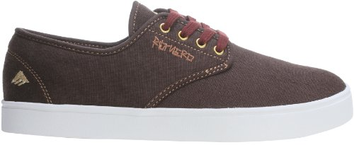 Emerica Laced By Leo Romero Skate Shoes Brown/Gum/Gold Mens Sz 13